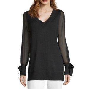 NWOT Worthington Sheer Sleeves Sweater